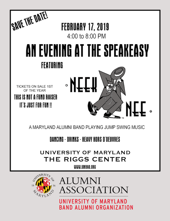 Save the Date for An Evening At The Speakeasy Ad